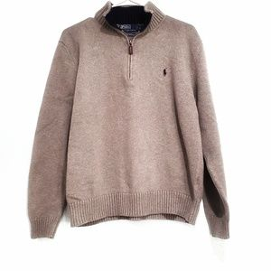 Polo half-zip sweater
